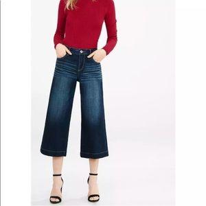 Express denim culotte Capris jean wide leg dark